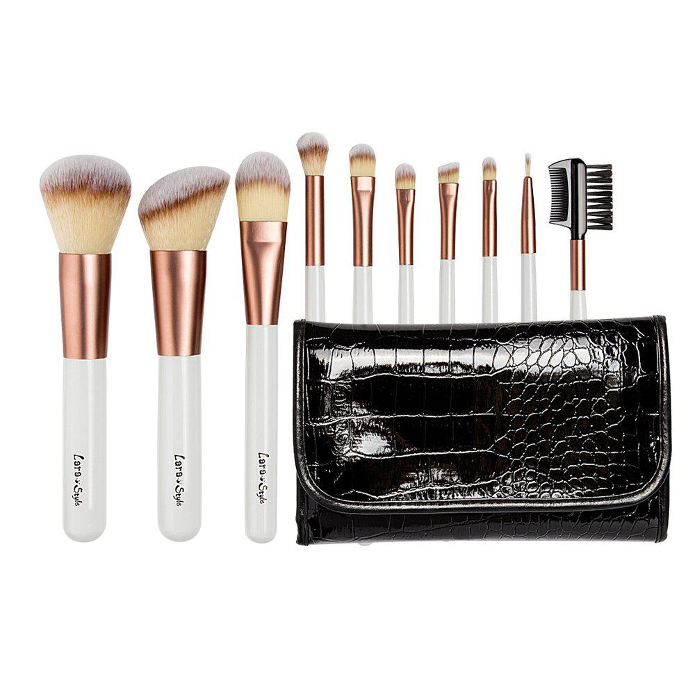 Фото Larastyle 10PCS Deluxe Makeup Brushes with Luxury Black Bag ( Limited Edition )
