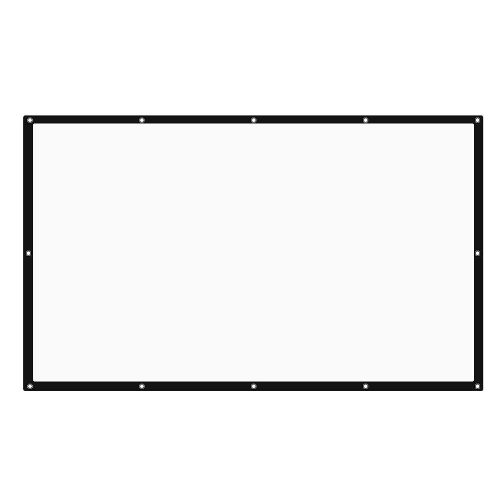 60 inch Portable Tabletop Projector Screen 16:9 - WHITE