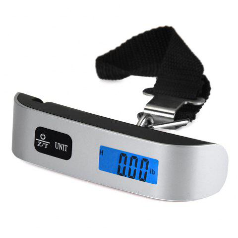 Hostweigh NS-14 LCD Mini Luggage Electronic Scale Thermometer 50kg Capacity Digital Weighing Device - SILVER