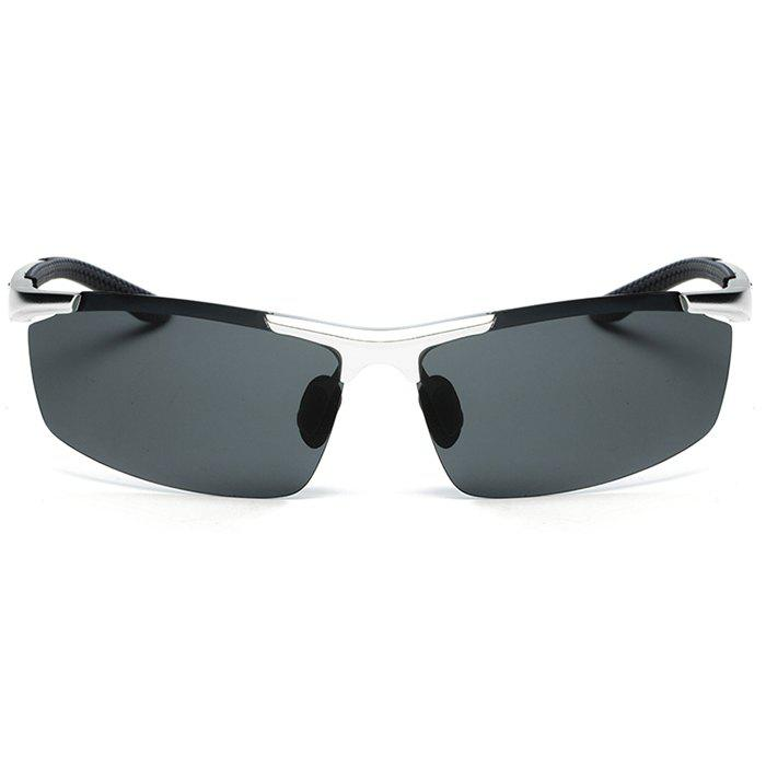 TOMYE 8530 Sports Polarized Lens  for Men and Women High-Definition Outdoor Cycling Sunglasses - SILVER FRAME/GREY LENS