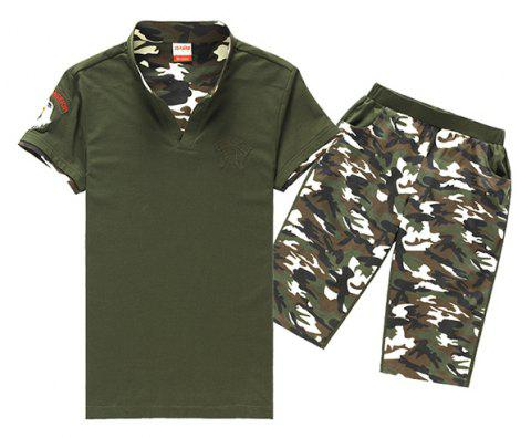 Men's Sportswear Outdoor Uniform Two-piece Suits - ARMY GREEN 2XL