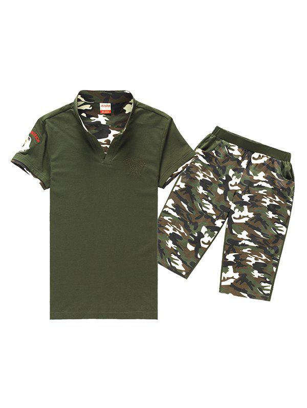 Men's Sportswear Outdoor Uniform Two-piece Suits - ARMY GREEN XL