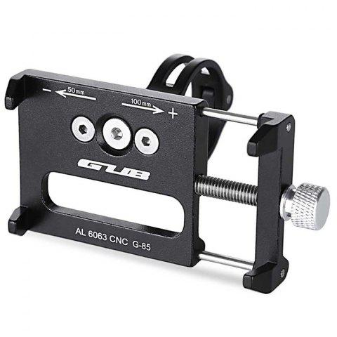 GUB G - 85 Aluminum Alloy Bicycle Handlebar Bike Phone Mount Cycling Holder Stand for Smart Mobile Cellphone - BLACK