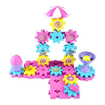 YOUZHI TS5203A - 2 48PCS Assembled Gear Building Blocks Candy Toys - multicolor