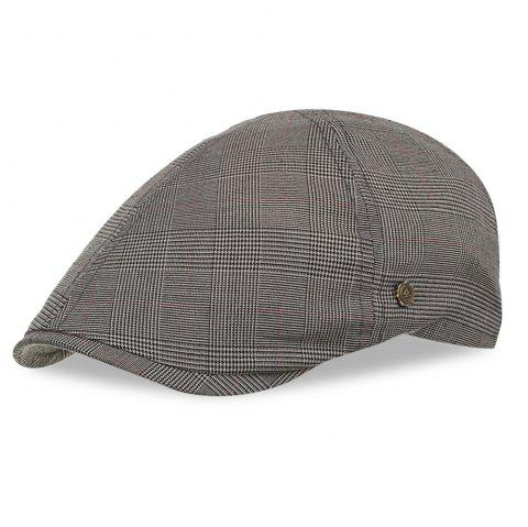 Y060 Men Newsboy Vintage Style Peaked Cap Grid Pattern Casual Beret Male Hat - multicolor B