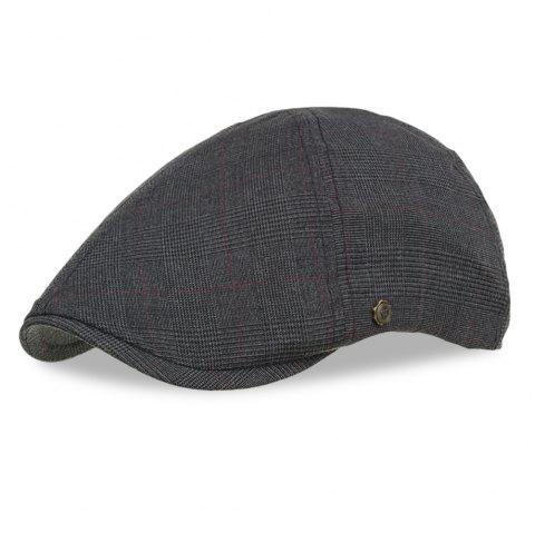 Y060 Men Newsboy Vintage Style Peaked Cap Grid Pattern Casual Beret Male Hat - multicolor C
