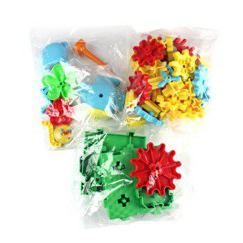YOUZHI TS5103A - 2 54PCS Assembled Gear Building Blocks Amusement Park - multicolor