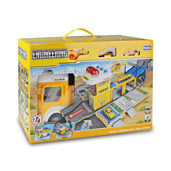 WinTek 5018 Assemblé Track Engineering Véhicules Construction Set Toy - Jaune