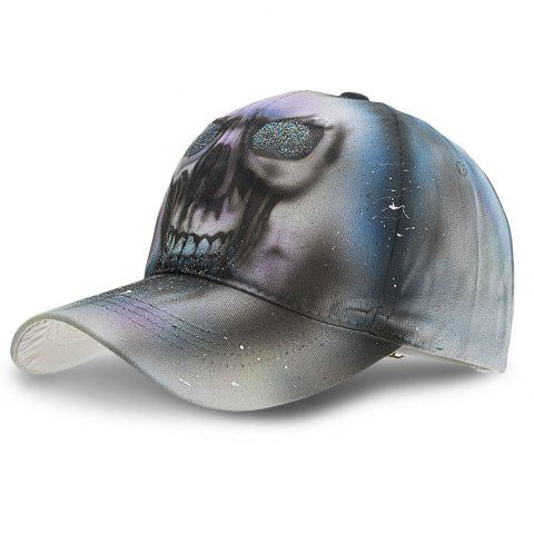 Unique Print Baseball Cap Adjustable Men Women Casual Outdoor Hat - GRAY CLOUD