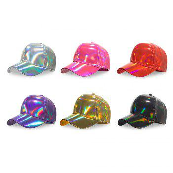 Baseball Cap Solid Color Men Women Casual Outdoor Hat - GOLD