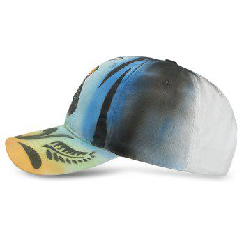 Hand Painted Animal Adjustable Ball Cap Hat for Outdoor - BLACK