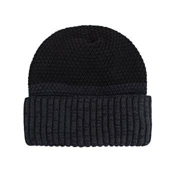 Knitted Wool Cap Fluff Inside Corn Niplet Pullover Casual Outdoor Hat - CADETBLUE
