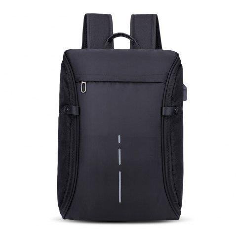Men's USB Charging Multi-function Large Capacity Backpack - BLACK