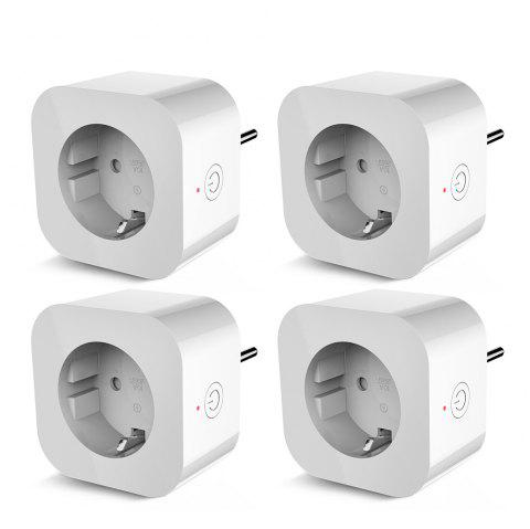 4PCS Elelight PE1004T Smart Sockets Remote Control Outlet with Timing Function - WHITE EU PLUG