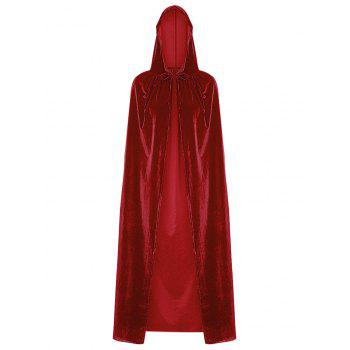 Dresslily coupon: Hooded Collar Cloak Halloween Costume Solid Color Velour Cape