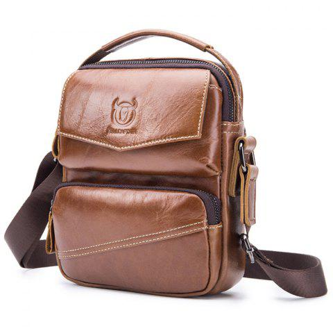 14a0fdf46436 2019 Mens Leather Shoulder Messenger Bag In BROWN