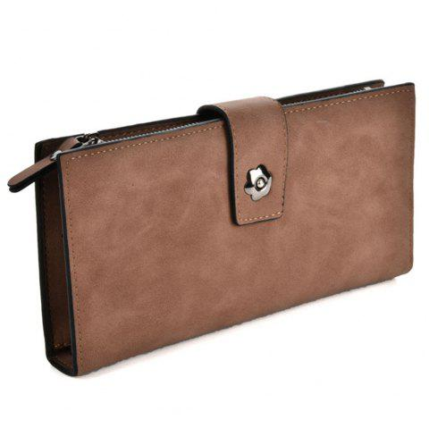 Femme  's Clutch Style Style Faddish All Match Bag - Brun