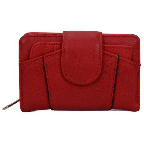 Women's Wallet Graceful Sweety Short Pattern Ladylike Chic Stylish Bag - RED