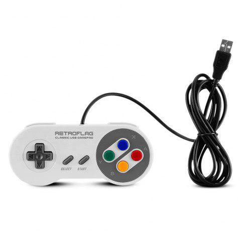 Retroflag J Edition Wired Game Controller for Switch / Raspberry Pi / Windows - LIGHT GRAY