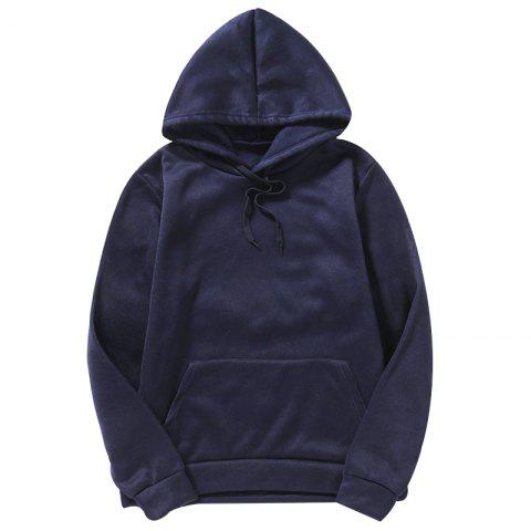 Sweat à capuche simple pour hommes - Cadetblue 4XL