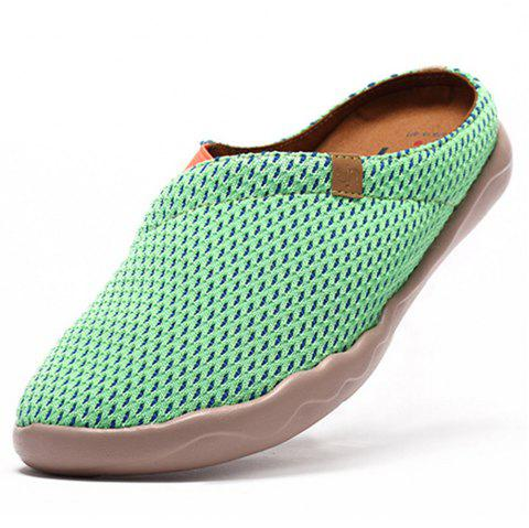 UIN Women's Painted Zaanes Green Slip-On Fashion Travel Shoes Art Casual Shoes - LIGHT SLATE EU 37