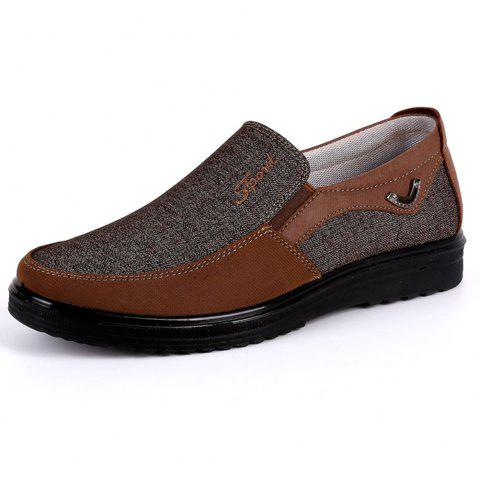 Chaussures Loafer en Tissu Taille Grande Respirantes Anti-Dérapantes pour  Homme - Brun 45 678edeca8bc1