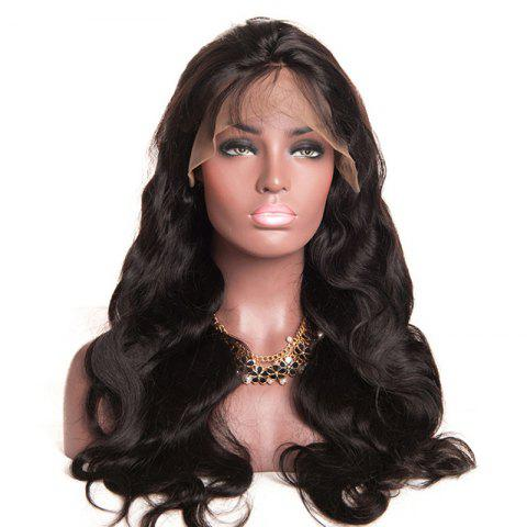 Body Wave Free Part Lace Front Human Hair Wig for Women - BLACK EEL