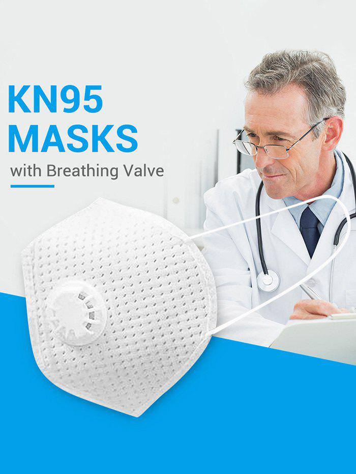 15PCS Breathing Valve KN95 Masks With FDA And CE Certification 4-layer Protection For Dust Spit Splash PM2.5 - WHITE 15PCS