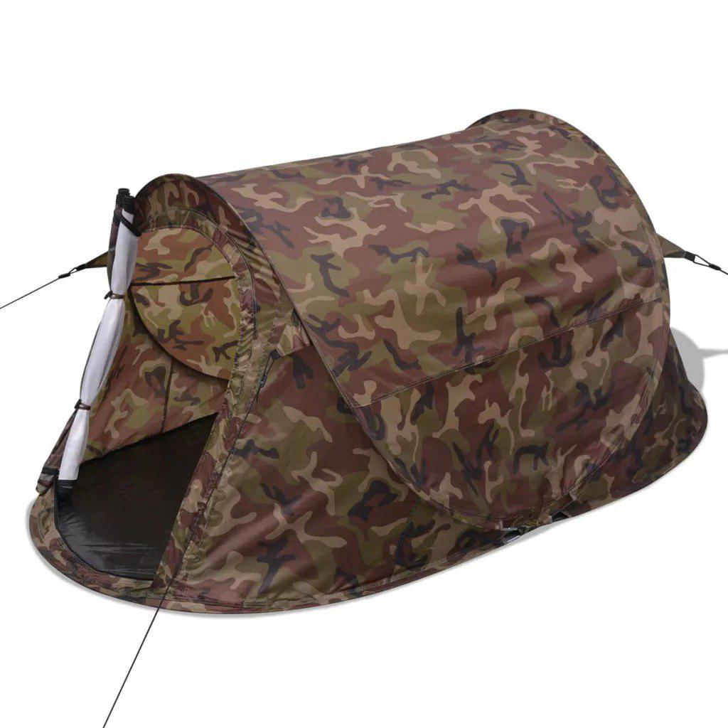vidaXL 2-person Pop-up Tent Camouflage  91005 - SILVER