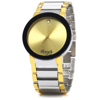 SLOGGI 355 Simple Men Quartz Watch Golden Dot Wristwatch