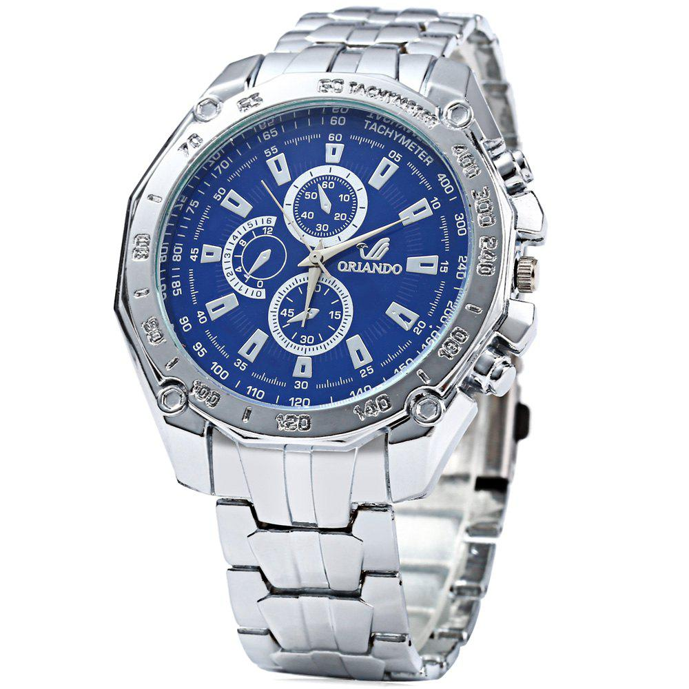 ORLANDO 410 Men Quartz Watch with Decorative Sub-dials - BLUE