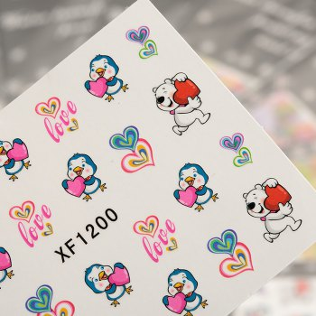 1 Sheet Water Transfer Sticker Flowers Nail Wraps Temporary Tattoos Watermark Nail Decoration -  XF