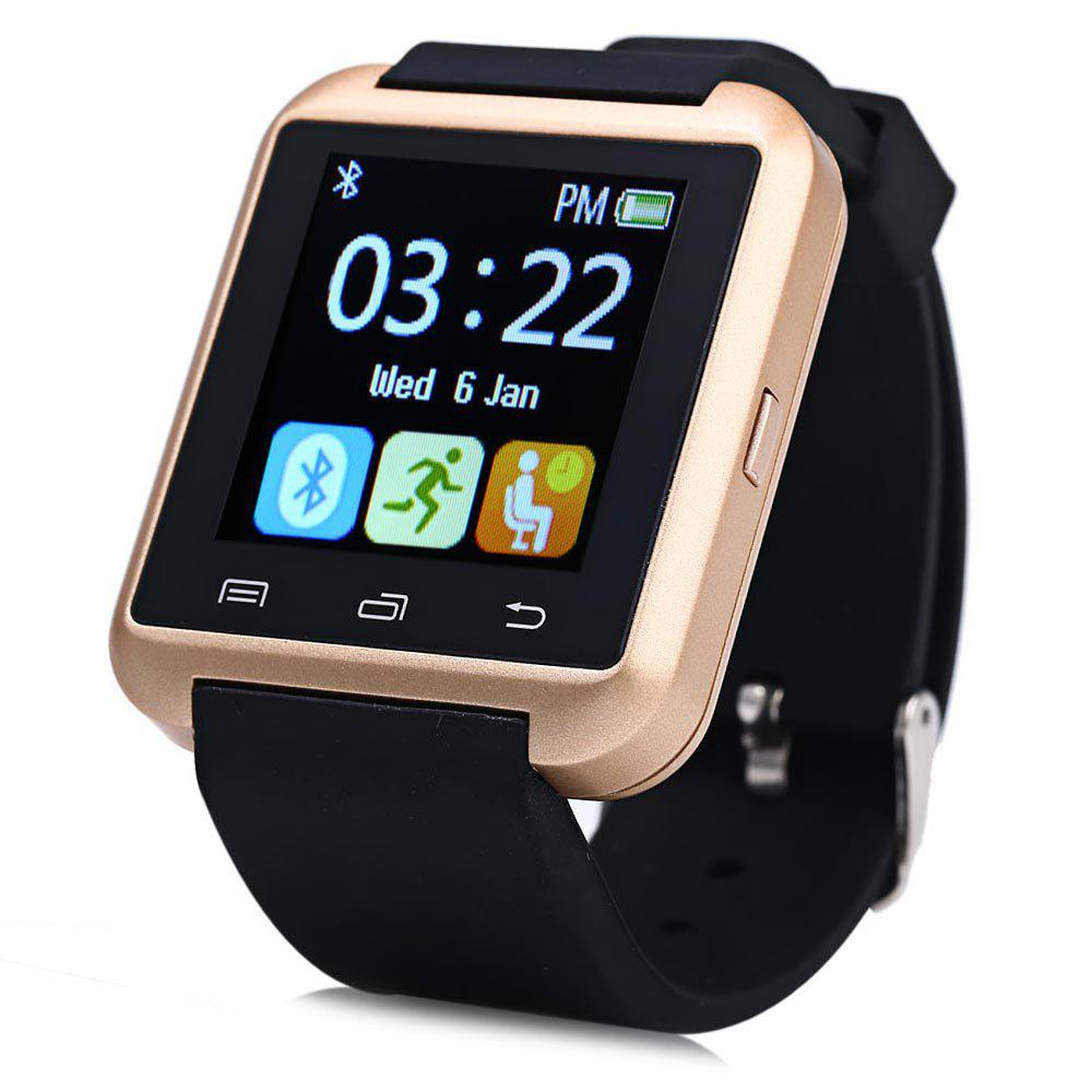 U8S Smart Bluetooth Watch with Pedometer for Sport - GOLDEN