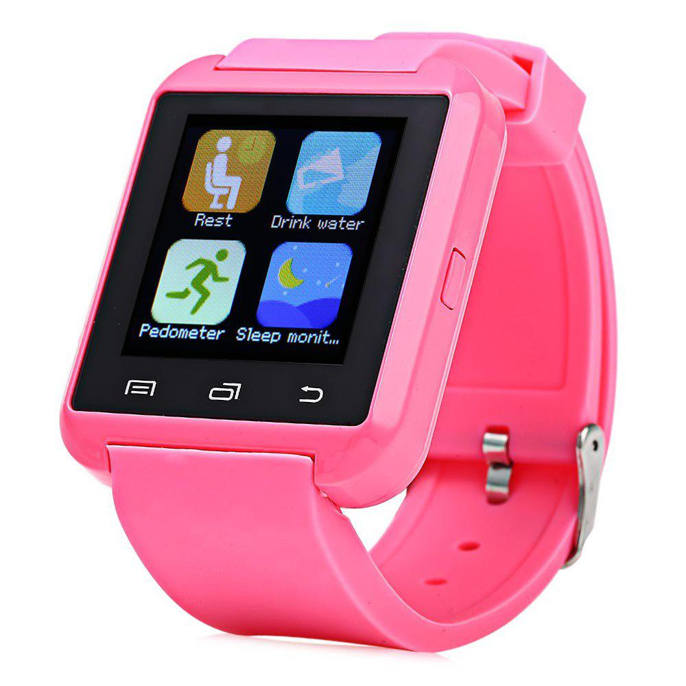 U8S Smart Bluetooth Watch with Pedometer for Sport - PINK