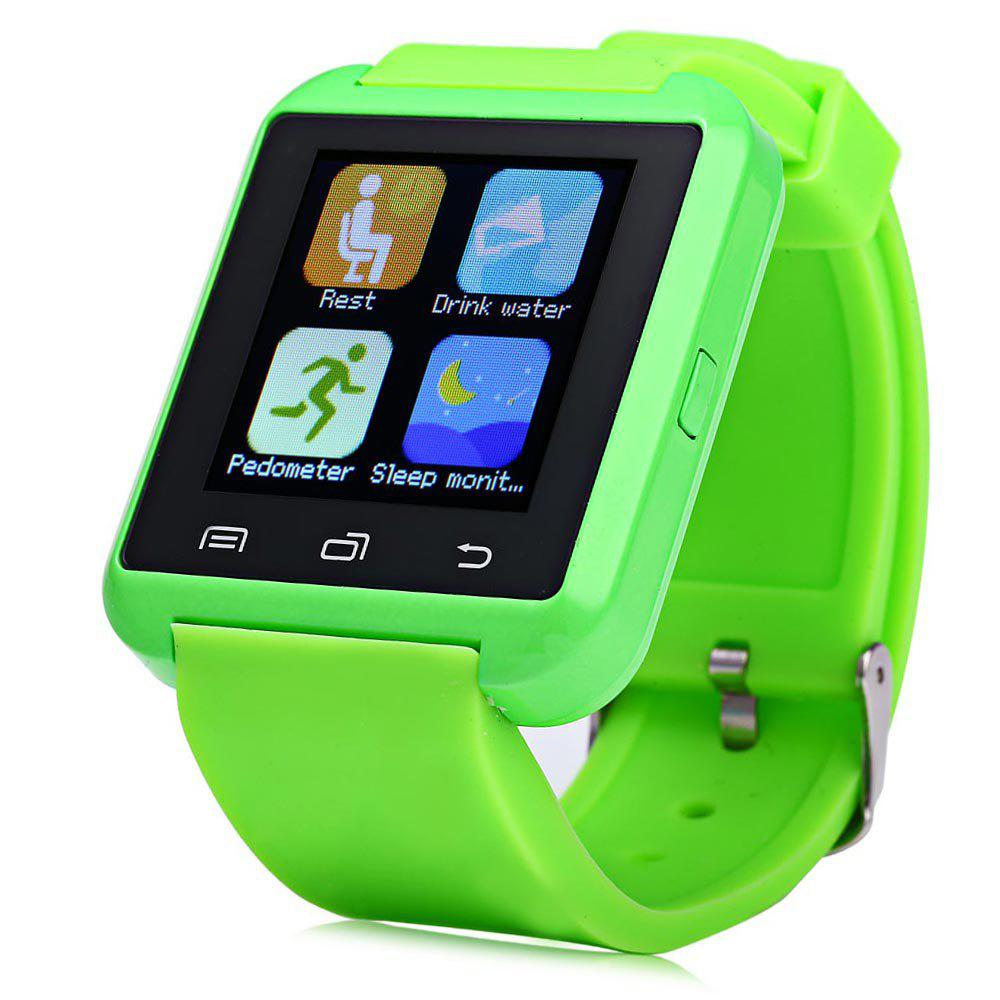 U8S Smart Bluetooth Watch with Pedometer for Sport - GREEN