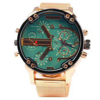 JUBAOLI Dual-movt Men Quartz Watch with Date Function