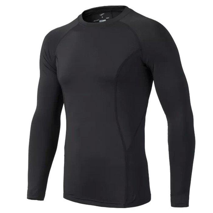 Male Slim Fitness Long Sleeves Polyester + Spandex MadeHome<br><br><br>Size: L<br>Color: BLACK
