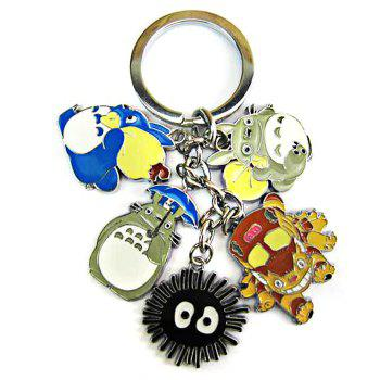 HALDER XA388 Metal Keyring My Neighbor Totoro Figure 5 in 1 Keychain