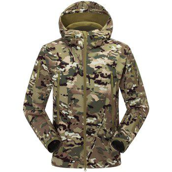 Male Fleece Hooded Jacket with Draw Cord