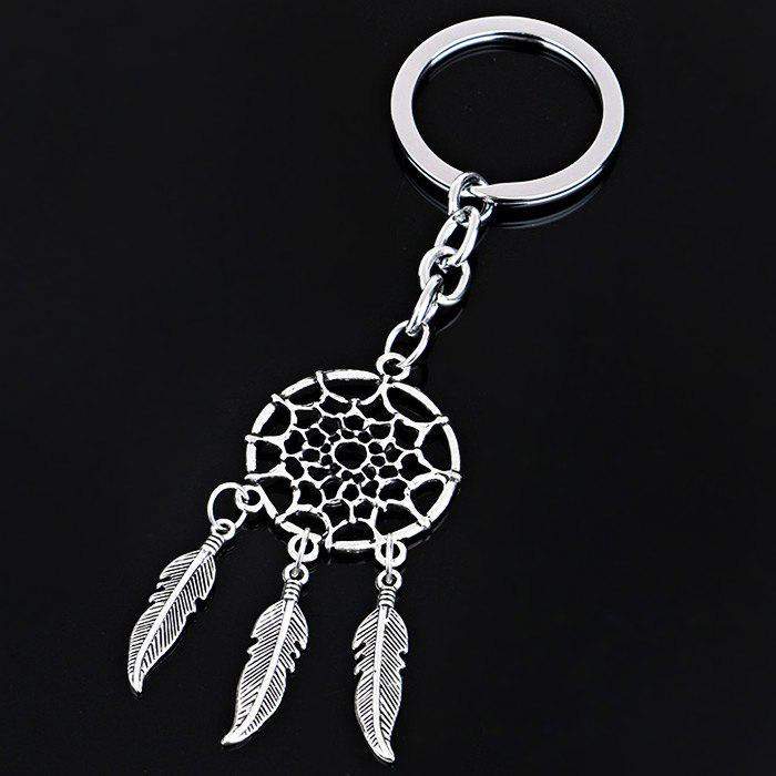 Dream Catcher Key Ring Bag Zinc Alloy Charm Key Chain Gift - SILVER