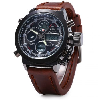 AMST FMD8156 Multifunctionnel Dual Movt LED Sportif Montre