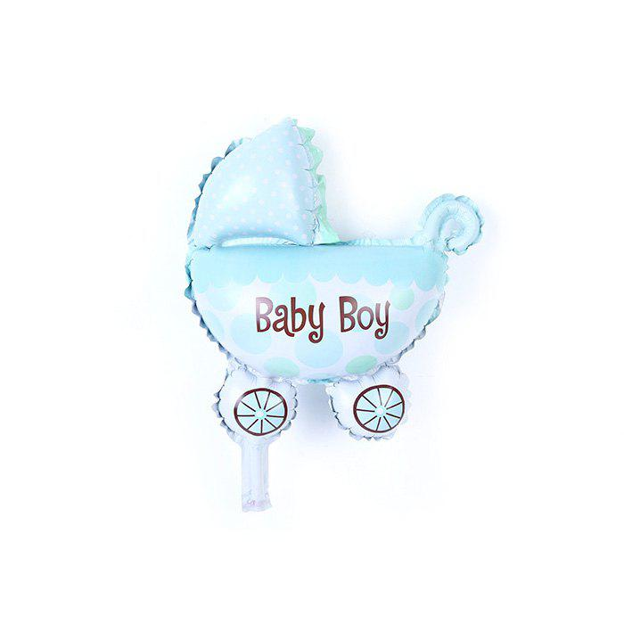 Pram Balloon Auto-Seal Reuse Party / Wedding Decor Gift for Children - BLUE BABY BOY