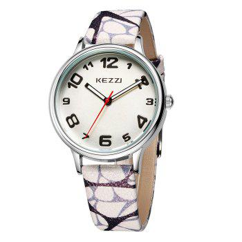 KEZZI BSL885 Round Dial Japan Quartz Female Watch PU Strap