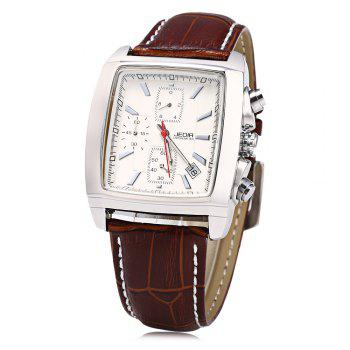 JEDIR 2028 Genuine Leather Strap Men Quartz Watch