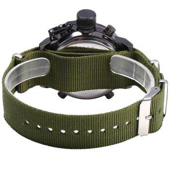 AMST AM31003 Double Movt Male LED Sports Watch with Canvas Band - SILVER