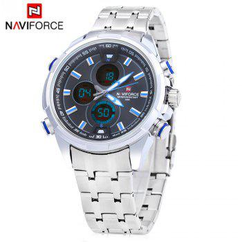 Naviforce 9049 Men Quartz Watch LED Wristwatch 30m Water Resistance