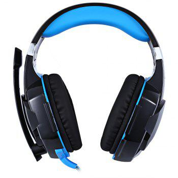 EACH G2000 Gaming Headset Stereo Sound 2.2m Wired Headphone Noise Reduction with Microphone for PC Game - BLUE