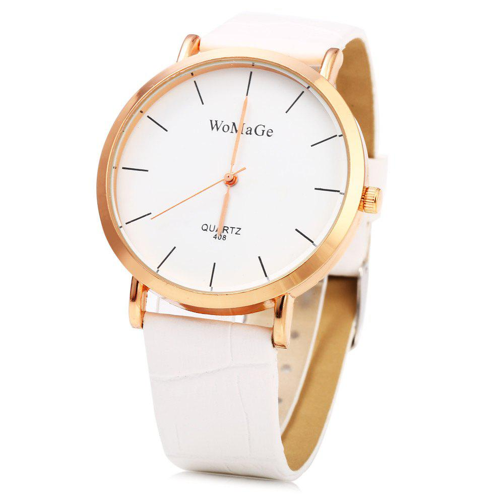 WoMaGe 408 Female Quartz Watch with Golden Case
