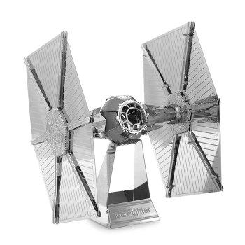 Tie Fighter Metallic Building Puzzle Educational DIY Assembling Toy