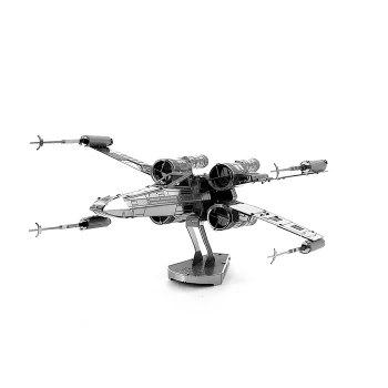 X-wing Fighter Metallic Building Puzzle Educational DIY Assembling Toy